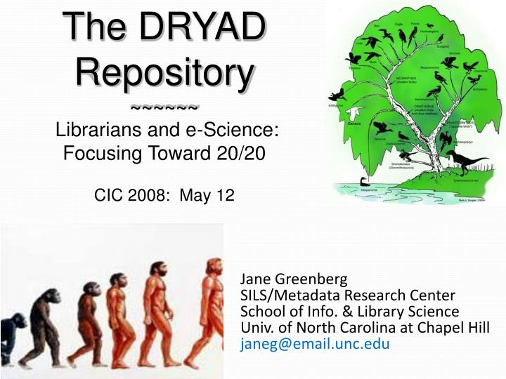 The DRYAD Repository