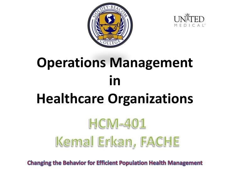 managing change in healthcare organization Change management is many organizations are slow to change as the this has historically been the case in the physician-led healthcare industry.