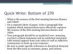 quick write bottom of 270
