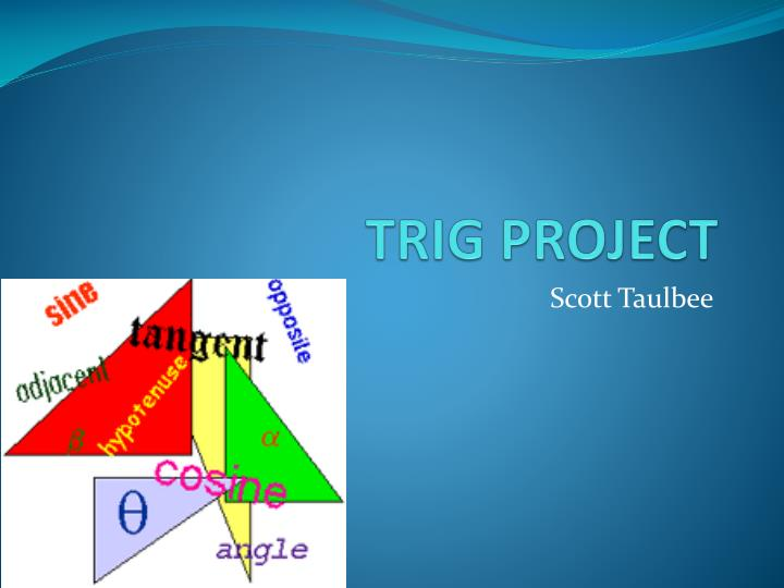 project trig Hands-on activity: trig river  although no charge or fee is required for using teachengineering curricular materials in your  , a project of d2l.