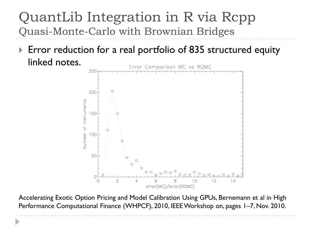 PPT - R/QuantLib Integration PowerPoint Presentation - ID:2419375