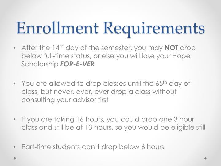 Enrollment Requirements