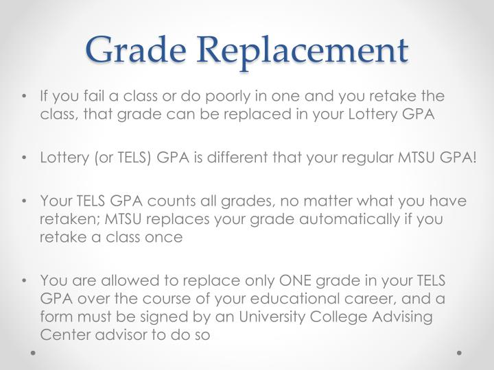 Grade Replacement