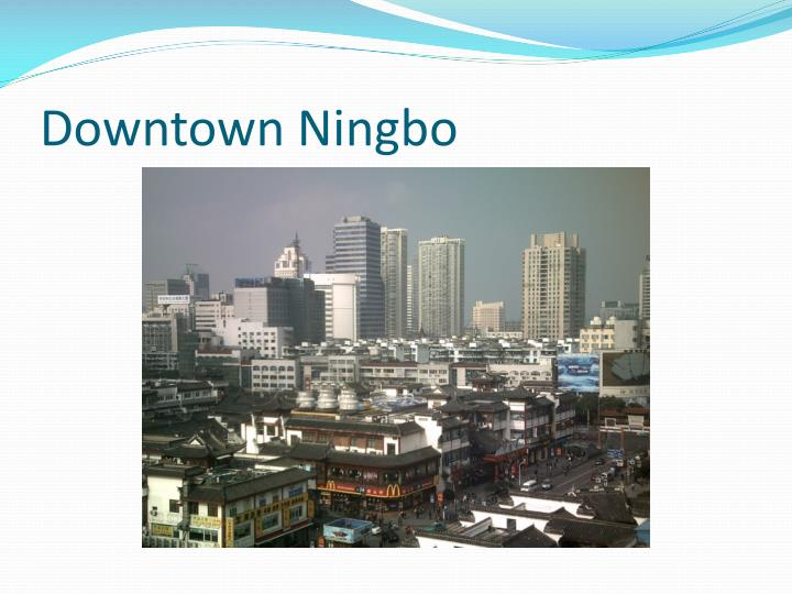 Downtown Ningbo