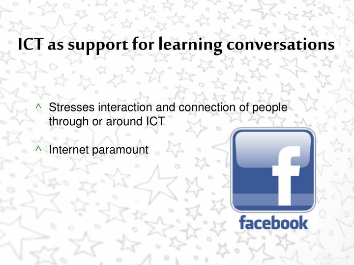 ICT as support for learning conversations