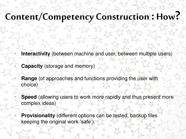 Content/Competency Construction