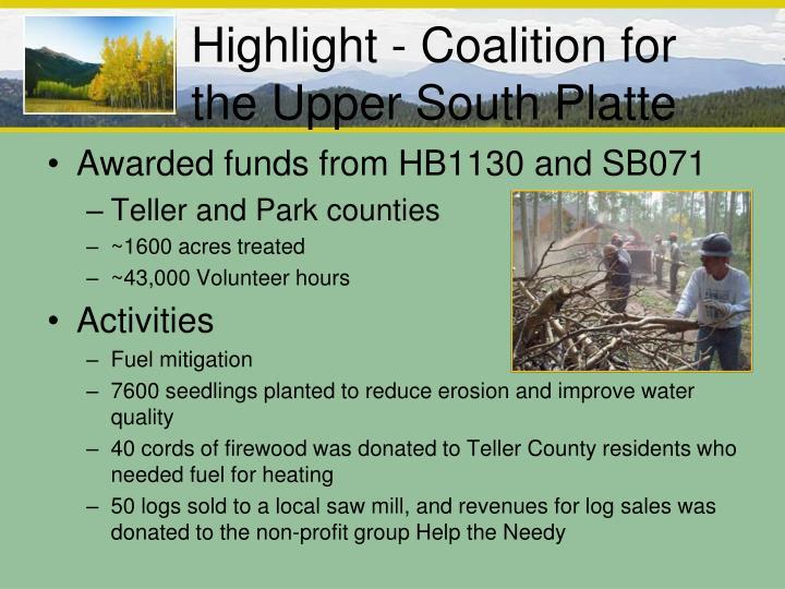 Highlight - Coalition for the Upper South Platte