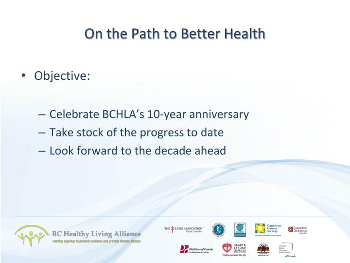 On the path to better health1