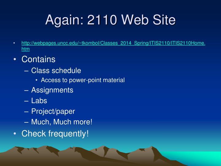 Again: 2110 Web Site