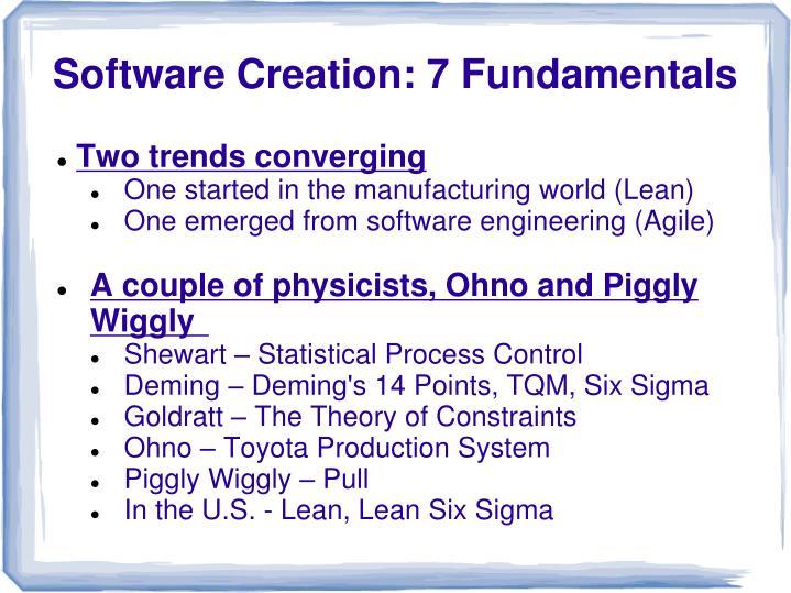 Software creation 7 fundamentals