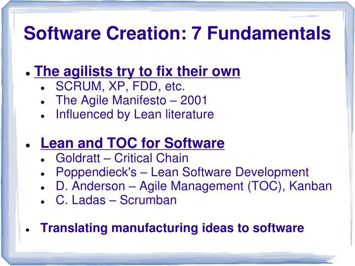 Software creation 7 fundamentals1