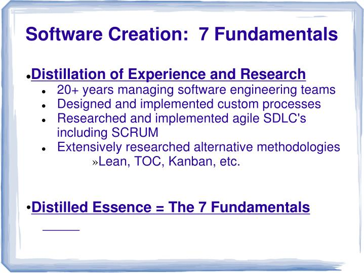 Distillation of Experience and Research