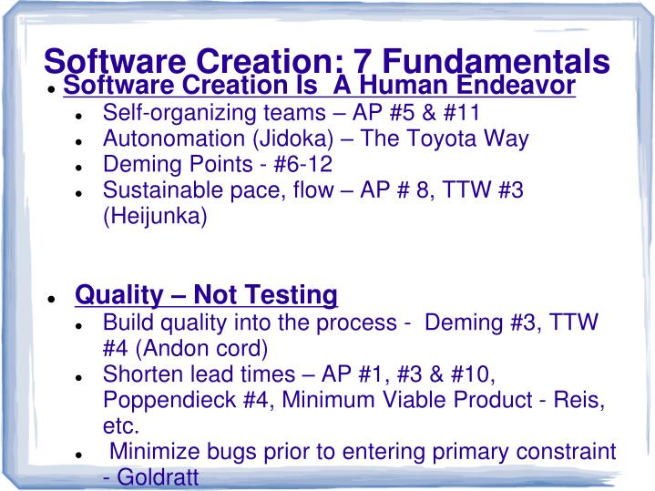 Software Creation Is  A Human Endeavor