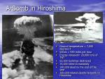a bomb in hiroshima