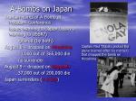 a bombs on japan