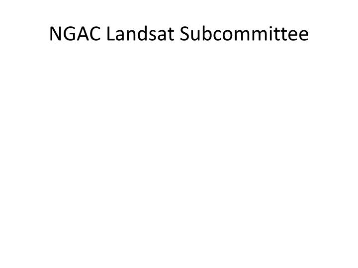 NGAC Landsat Subcommittee
