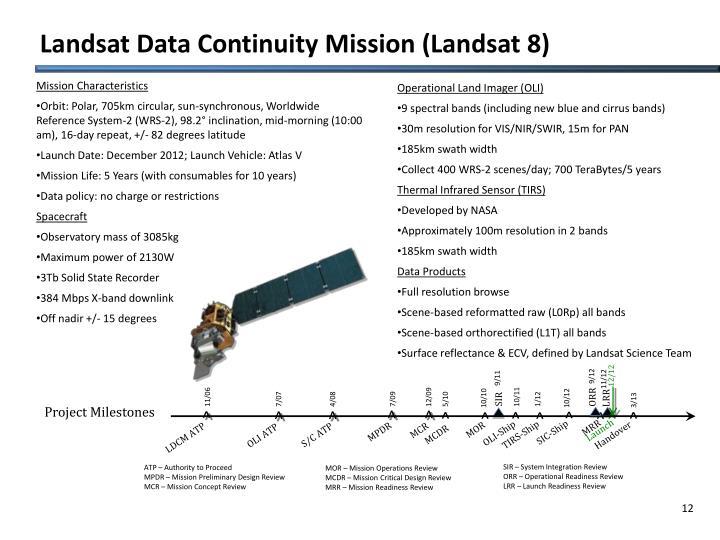 Landsat Data Continuity Mission (Landsat 8)