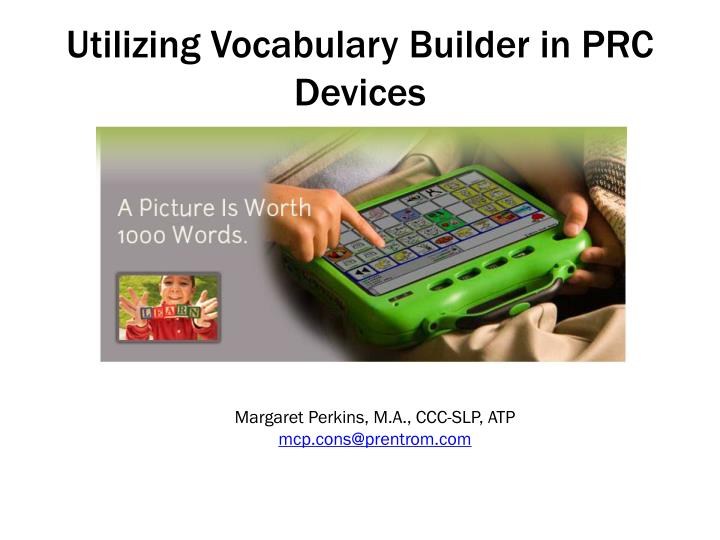utilizing vocabulary builder in prc devices n.