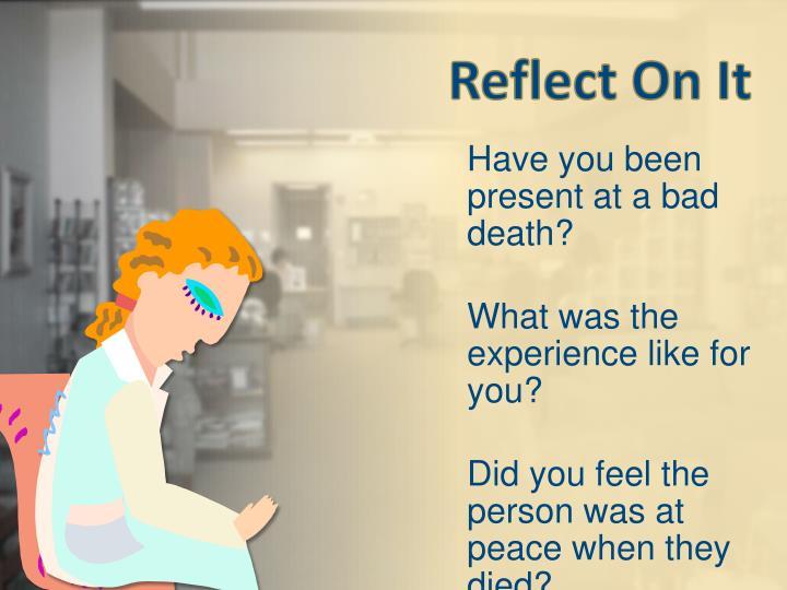 Reflect On It