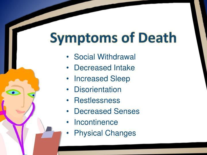 Symptoms of Death