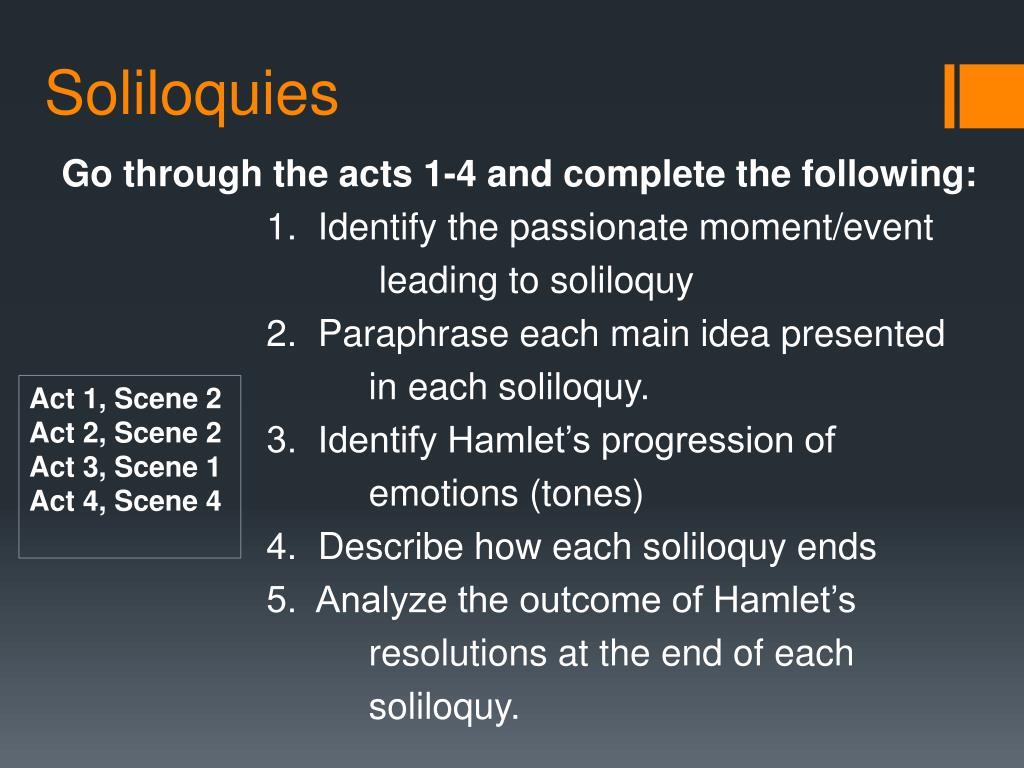 Ppt Soliloquie Powerpoint Presentation Free Download Id 2420354 Hamlet Soliloquy Act 3 Scene 1 Paraphrase Hamlet' Meaning Analysi Translation
