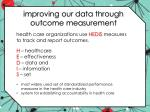 improving our data through outcome measurement