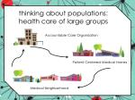 thinking about populations health care of large groups