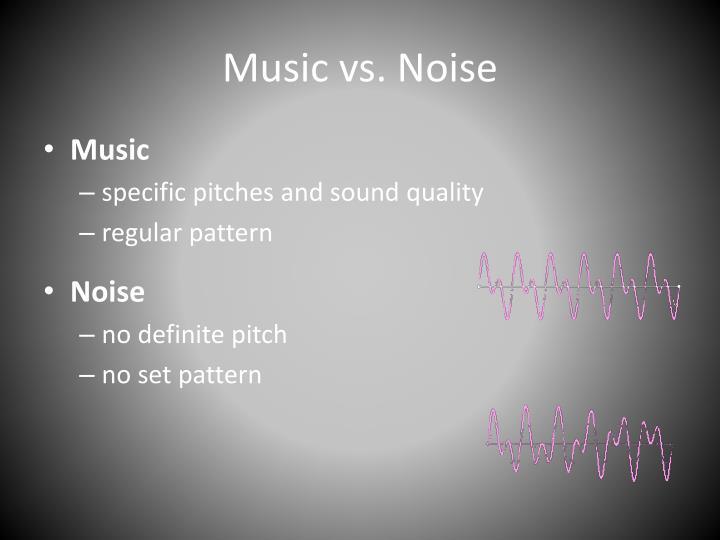 Music vs. Noise