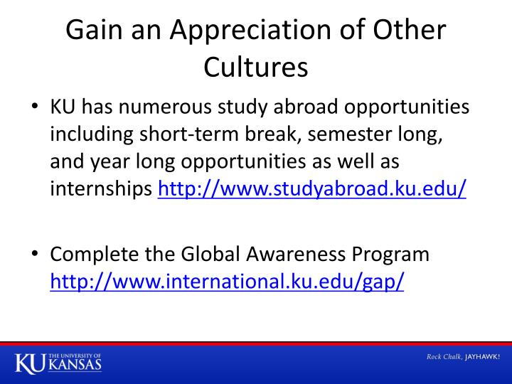 Gain an Appreciation of Other Cultures