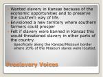 proslavery voices