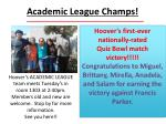 academic league champs
