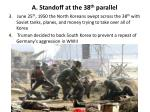 a standoff at the 38 th parallel