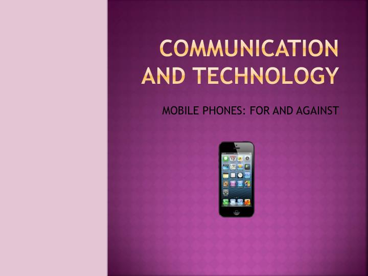 communication and technology n.
