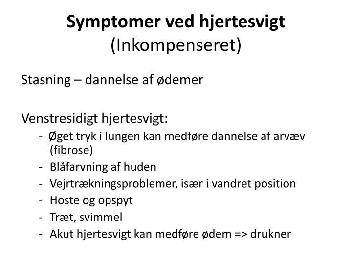Symptomer ved hjertesvigt