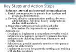 key steps and action steps
