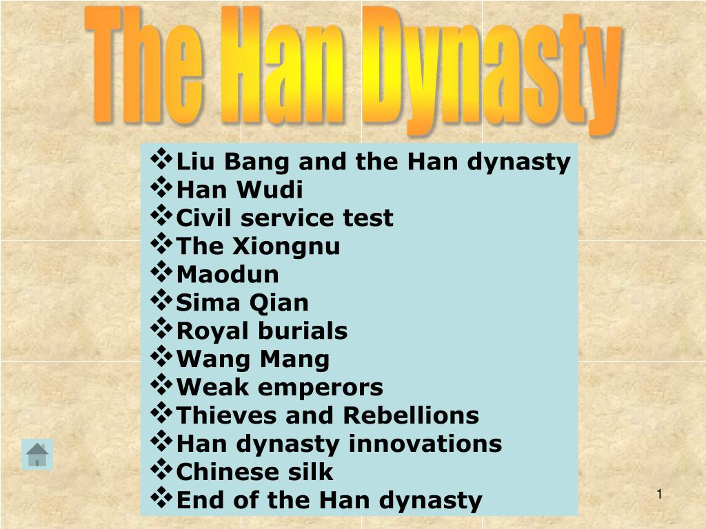 Ppt The Han Dynasty Powerpoint Presentation Free Download Id 2420965