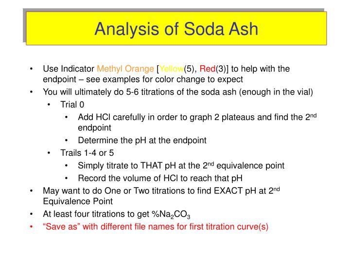 analysis of soda ash