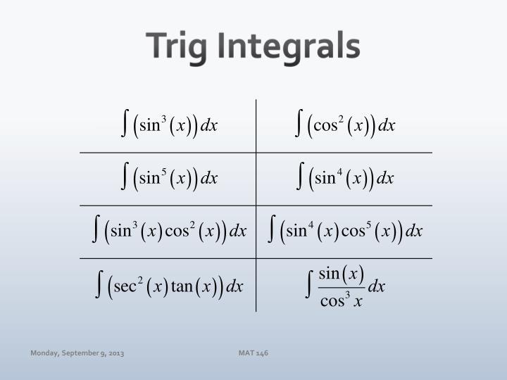 Trig Integrals