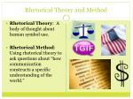 rhetorical theory and method