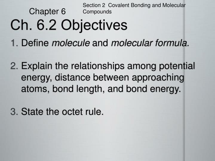 ch 6 2 objectives n.