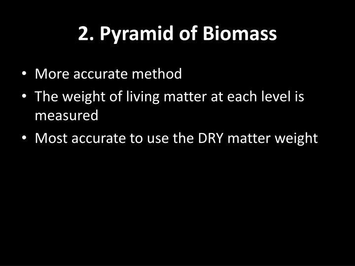 2. Pyramid of Biomass