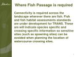 where fish passage is required