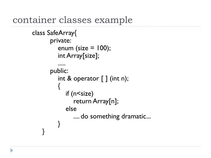 container classes example