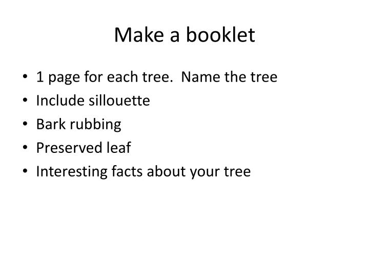 Make a booklet