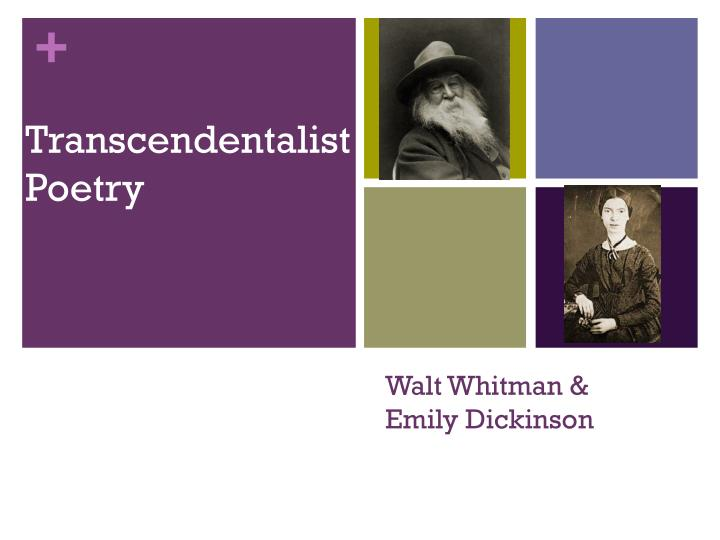 a comparison of the walt whitmans and emily dickinsons poetry Walt whitman and emily dickinson's works have numerous differences compared to dickinson's short and seemingly simple poems, whitman's are long and often complex.