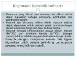 kegunaan keramik industri