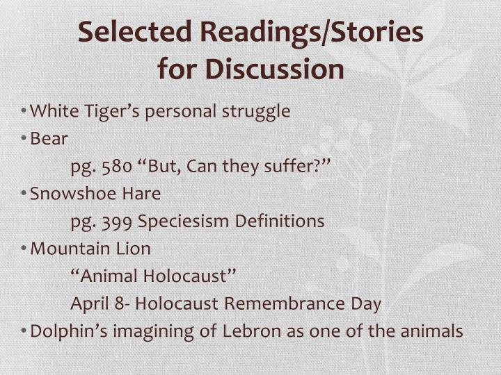 Selected Readings/Stories