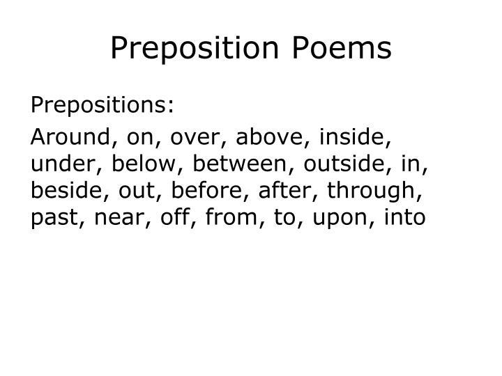 ppt preposition poems powerpoint presentation id2421457
