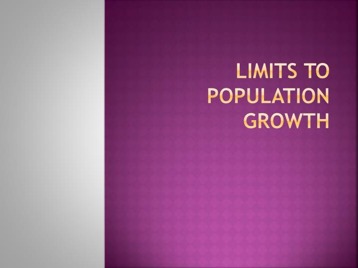 limits to population growth n.