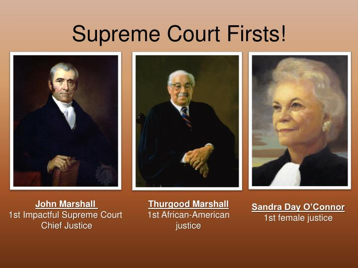 Supreme Court Firsts!